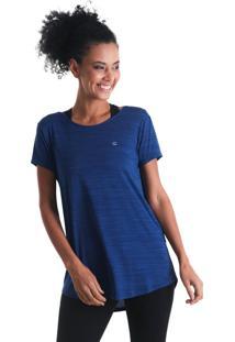 Camiseta Feminina Levíssima Mescla - Azul - Líquido