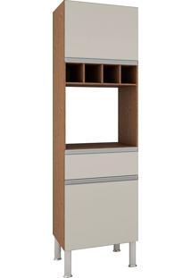 Paneleiro Com 2 Portas E 1 Gaveta Premium-Mgm - Amendoa / Off White