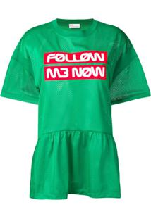 Red Valentino Top 'Follow Me Now' - Verde