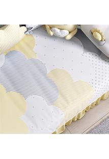 Edredom Beb㪠Nuvem De Algodã£O Amarelo Grã£O De Gente Amarelo - Amarelo - Dafiti