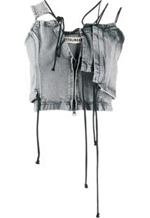 Ottolinger Blusa Jeans Assimétrica - Cinza