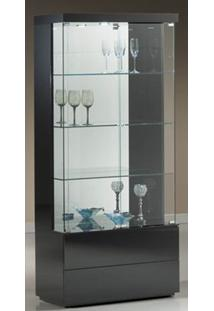 Cristaleira Francis 90 Cm Laca Preta Brilhante - 32401 - Sun House