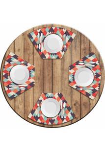 Jogo Americano Love Decor Para Mesa Redonda Wevans Geometric Kit Com 4 Pçs