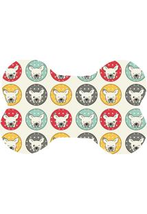 Tapete Love Decor Wevans Pet Bulldogs Colorido