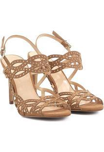 Sandália Shoestock Salto Fino Cristais Feminina - Feminino