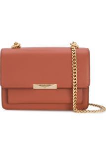 Michael Kors Collection Bolsa Tiracolo Jade Com Corrente - Rosa