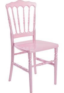Cadeira De Jantar Dior Resina Rosa
