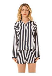 Pijama Curto Azul