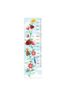 Adesivo De Parede Quartinhos Infantil Régua Flores E Insetos Colorido