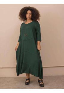 Vestido Lídia Plus Size Verde Escuro-Exg Verde