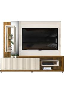 Estante Home Theather Tv Até 65 Pol. Led Gavetas Frisos 3D Onduras Cre