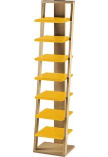 Prateleira Suspensa Stairway 1132 Palha/Amarelo - Maxima