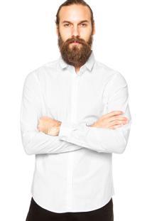 Camisa Calvin Klein Jeans Botão Branca