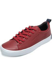 Tênis Couro Calvin Klein Cadarço Vermelho