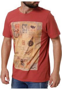Camiseta Manga Curta Masculina Vels Telha