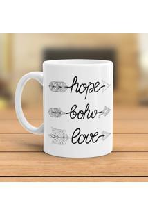 Caneca Porcelana Wevans Hope Boho Love