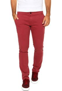 Calça Sarja Rusty Chino Cos Outlook Bordô