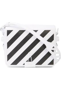 Off-White Bolsa Tiracolo Com Logo - Branco