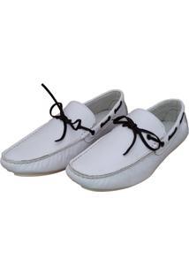 Mocassim Navit Shoes Driver Branco