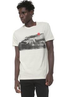 Camiseta Osklen Ice Mountains Bege