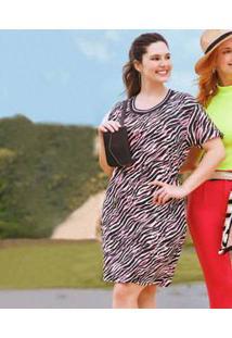 Vestido Feminino Animal Print Neon Plus Size Marisa