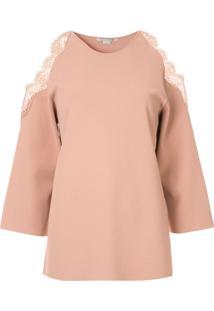 Stella Mccartney Blusa De Tricô Com Vazado No Ombro - Rosa