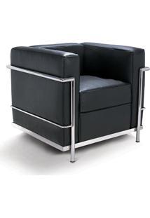 Poltrona Lc2 Masculina Estrutura Aço Inox Cremon Design By Le Corbusier
