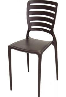 Cadeira Sofia Vazado Horizontal Polipropileno Marrom - 17425