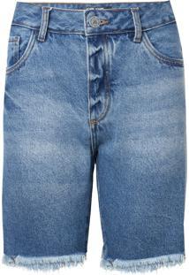 Bermuda John John Boy São Luis Jeans Azul Feminina (Jeans Medio, 32)