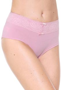 Calcinha Love Secret Lingerie Caleçon Renda Rosa