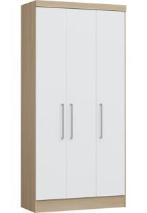 Modulo Com 3 Portas E 2 Gavetas Infinity 3830A-Castro Móveis - Nogueira / Branco