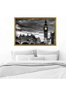 Quadro Love Decor Com Moldura London Dourado Mã©Dio - Multicolorido - Dafiti
