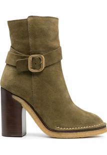 Tod'S Ankle Boot De Camurça - Verde