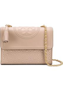 Tory Burch Bolsa Tiracolo 'Fleming' - Neutro