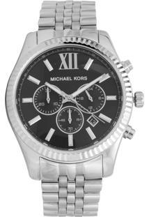 Relógio Michael Kors Mk8602/1Kn Prata/Preto