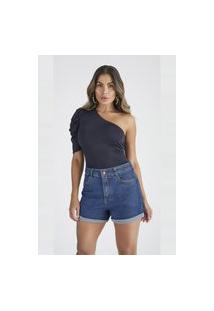 Bermuda Jeans Buy Style Mom Cassia Azul