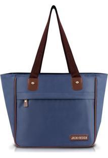 Bolsa Shopper Lisa Jacki Design Essencial Iii Azul Marinho