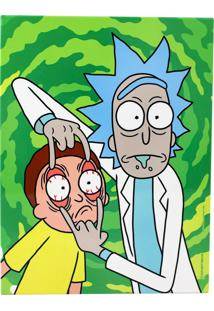 Quadro Zona Criativa Rick And Morty Verde