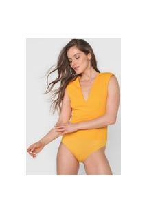 Body Colcci Textura Amarelo