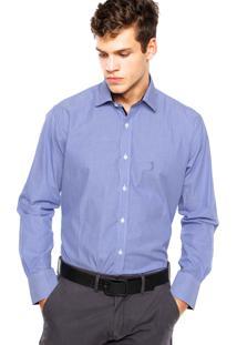 Camisa Aleatory Bordado Azul