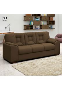 Sofá Com 3 Lugares Luan – Linoforte Moveis - Marrom