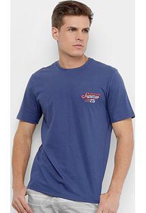 Camiseta Burn Vintage Masculina - Masculino-Marinho