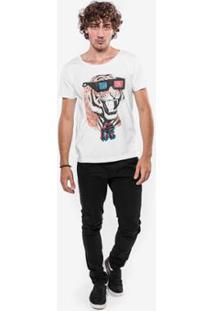 Camiseta Hermoso Compadre Tiger - Masculino-Branco