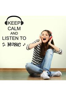 Adesivo De Parede Keep Calm And Listen To Music