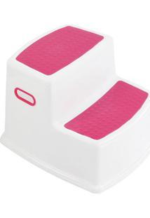 Banquinho - 2 Degraus - Rosa - Kavod