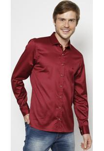 Camisa Lisa Extra Slim - Vermelho Escuro - Vip Reservip Reserva