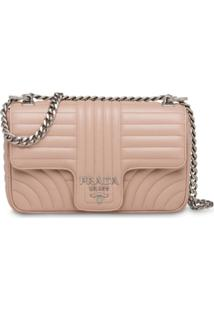 Prada Diagramme Shoulder Bag - Rosa