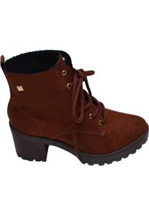 Bota Feminina Ankle Boot Ramarim Marrom Cravo