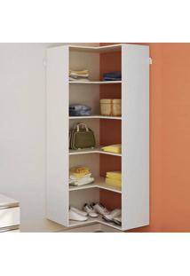Guarda-Roupa Modulado De Canto Closet Sem Portas Kt7135 Branco - Getama