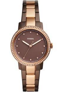 Relógio Fossil Feminino Neely - Es4300/5Mn Es4300/5Mn - Feminino-Marrom